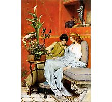 Confidences 1869 by Sir Lawrence Alma-Tadema Photographic Print