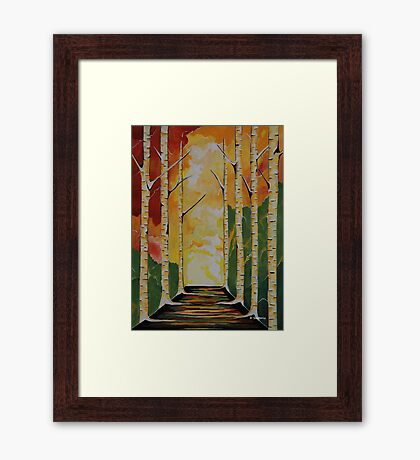 Meet Me By The Birches Framed Print