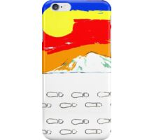 FOOTSTEPS IN THE SNOW iPhone Case/Skin