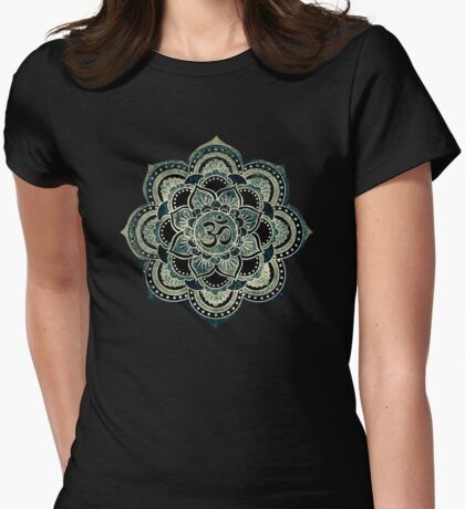Sacred Geometry for your daily Life- GALACTIC OHM Womens Fitted T-Shirt