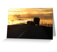 Driving into a New Day Greeting Card