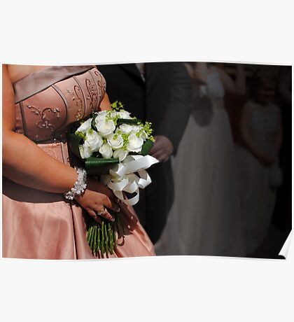 Bride & bouquet Poster