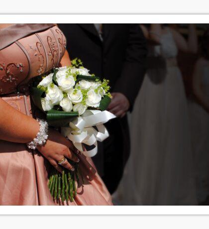 Bride & bouquet Sticker