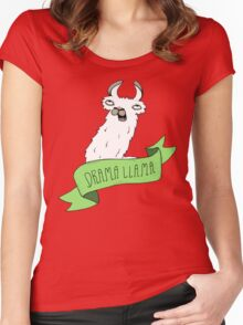 Drama Llama Women's Fitted Scoop T-Shirt