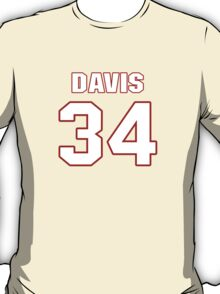 NFL Player Knile Davis thirtyfour 34 T-Shirt