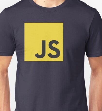 javascript js programming language logo Unisex T-Shirt
