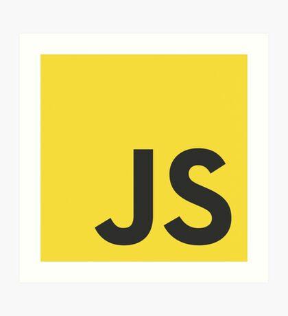 javascript js programming language logo Art Print