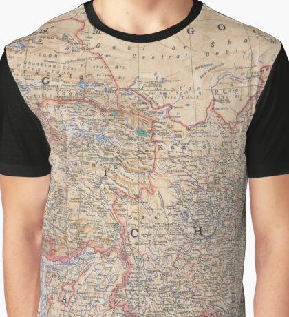 China Antique Maps Graphic T-Shirt