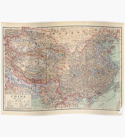 China Antique Maps Poster