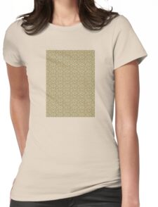 Retro Waves Pattern Womens Fitted T-Shirt