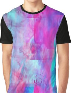 Cotton Candy Ghostly Flames Graphic T-Shirt