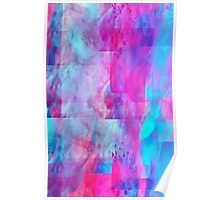 Cotton Candy Ghostly Flames Poster