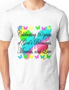 PRETTY 60TH BIRTHDAY BUTTERFLY DESIGN Unisex T-Shirt