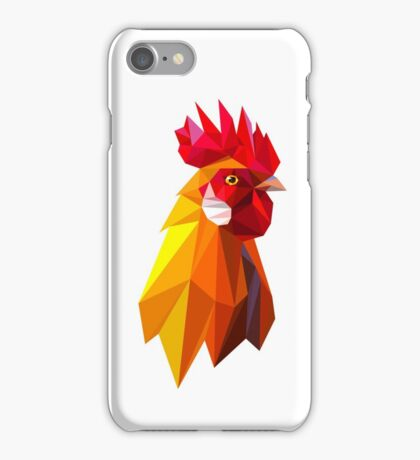 Head of Red fiery rooster  iPhone Case/Skin