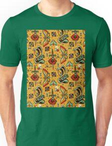 Yellow Splash Tattoo Pattern Unisex T-Shirt