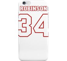 NFL Player Trenton Robinson thirtyfour 34 iPhone Case/Skin
