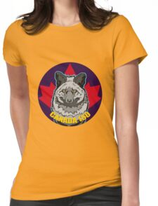 Black Polar Fox Womens Fitted T-Shirt
