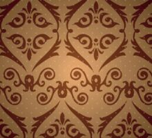 Elegant Decorative Geometric Pattern Vignette Sticker