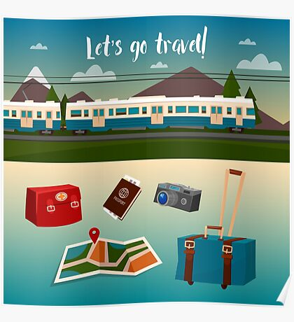 Time to Travel by Train Poster