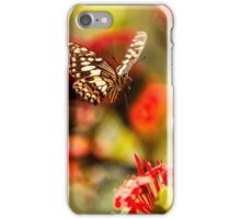 landing of a butterfly iPhone Case/Skin