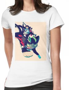 blue exorcist #07 Womens Fitted T-Shirt