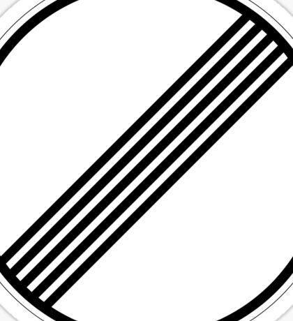 Autobahn sign Sticker