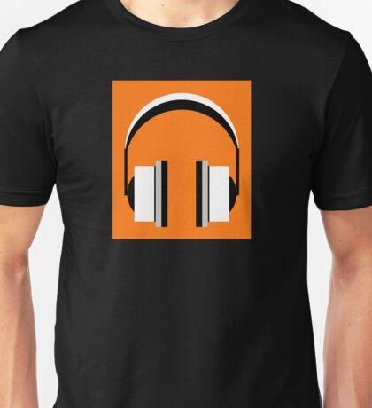 Headphones in Orange Popsicle Unisex T-Shirt