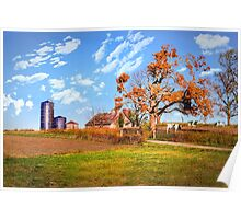 Autumn Kentucky Farm Poster