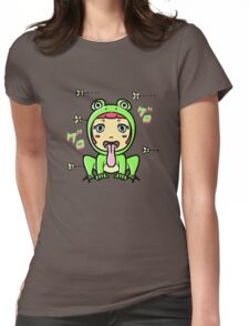 frog girl Womens Fitted T-Shirt