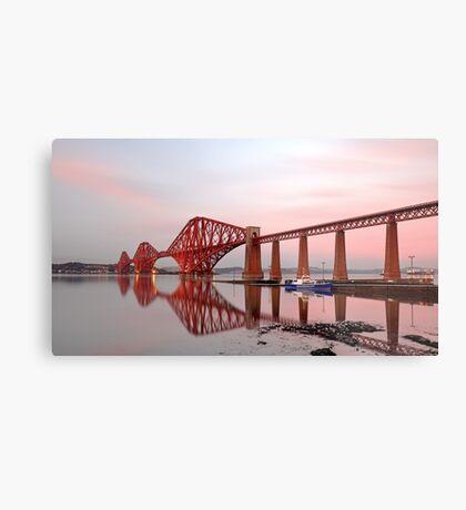 Forth Railway Bridge Sunset Metal Print