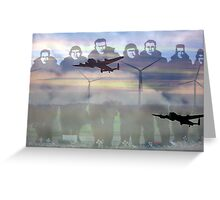 """Lest we forget ""- 158  squadron Lissett Greeting Card"