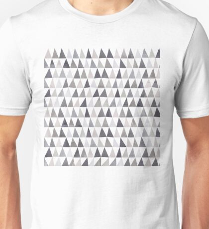 Muted Triangles Imperfect Geometry Unisex T-Shirt