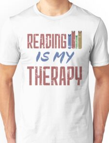 Reading Is My Therapy Unisex T-Shirt