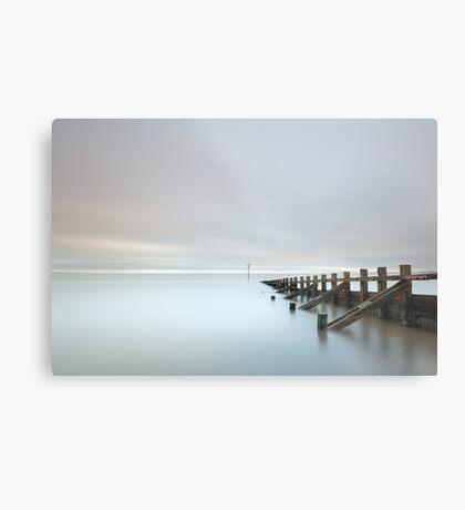 Portobello Sea Groynes Metal Print
