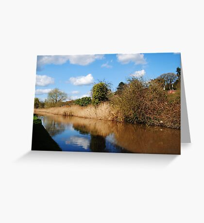 Worcester to Birmingham Canal Greeting Card