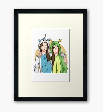 Camren (Unicorn and Dragon) Framed Print