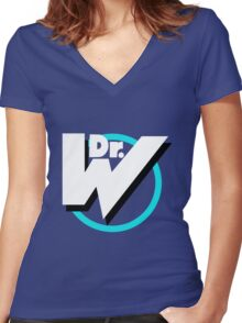 Dr. Wily Logo Women's Fitted V-Neck T-Shirt