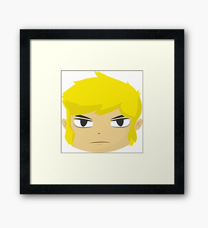 Serious Link Framed Print