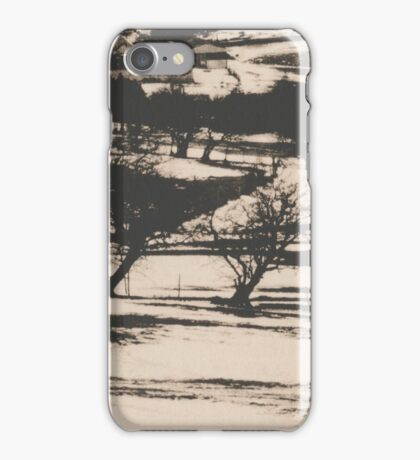 Four Trees in the Landscape iPhone Case/Skin