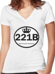 221B Baker St. Women's Fitted V-Neck T-Shirt