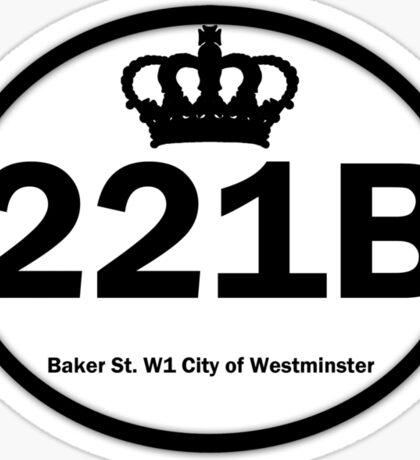 221B Baker St. Sticker