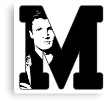 M for Mal Canvas Print