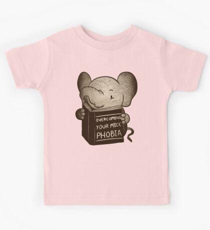 Elephant Overcoming Your Mice Phobia  Kids Tee