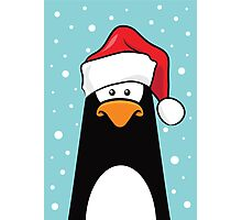 Christmas Pensive Penguin Photographic Print