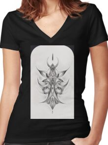 Magnified Devotion Women's Fitted V-Neck T-Shirt