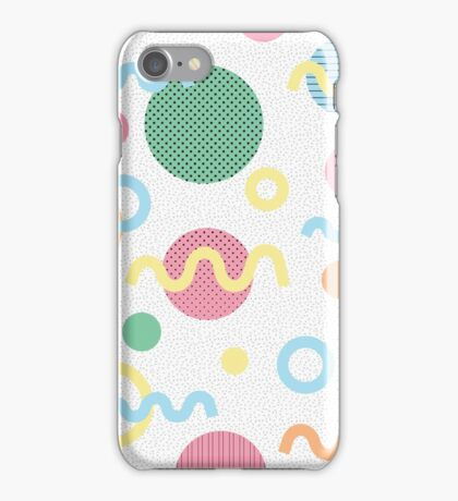Pastel Memphis style iPhone Case/Skin