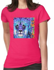 Beauty And The Beast - Lion Art - Sharon Cummings Womens Fitted T-Shirt