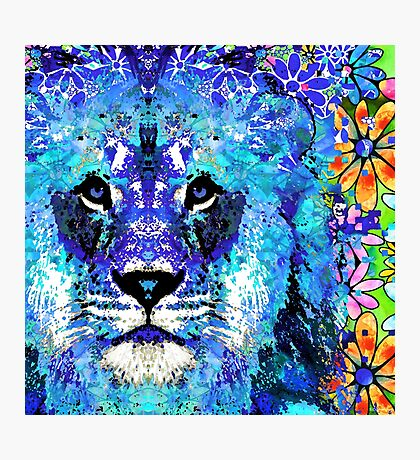 Beauty And The Beast - Lion Art - Sharon Cummings Photographic Print