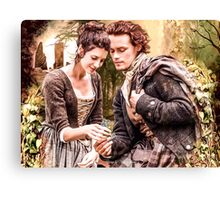 """Claire & Jamie """"The keys to my heart"""" Canvas Print"""