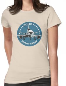DC-10 Flight Crew Womens Fitted T-Shirt